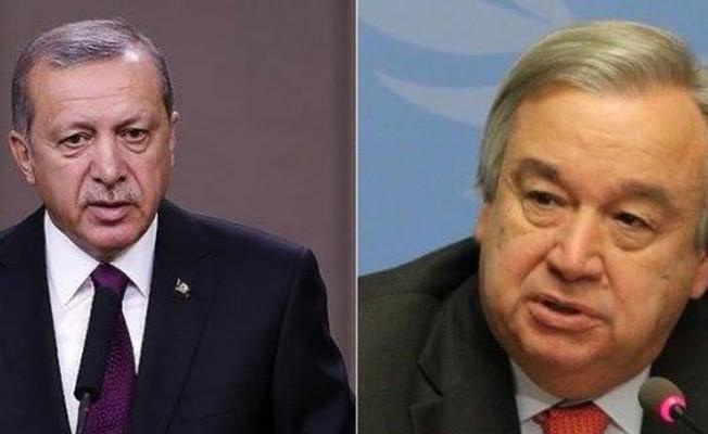 Erdoğan, Guterres'le telefonda görüştü