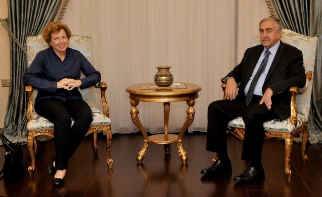Akıncı, ABD Büyükelçisi'ni kabul etti