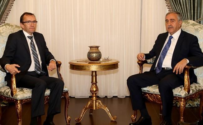 Cumhurbaşkanı Akıncı, Eide'yi kabul edecek.