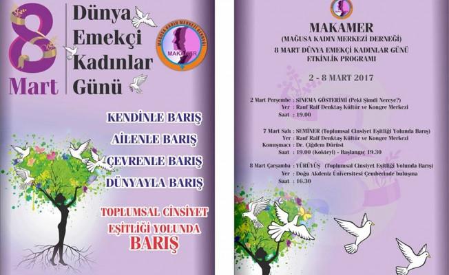 Makamer'in Kadınlar Günü etkinlikleri başlıyor