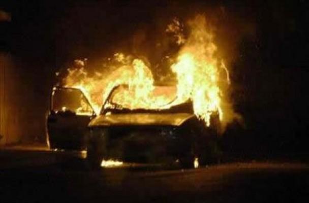 Karaoğlanoğlu'da araç yangını
