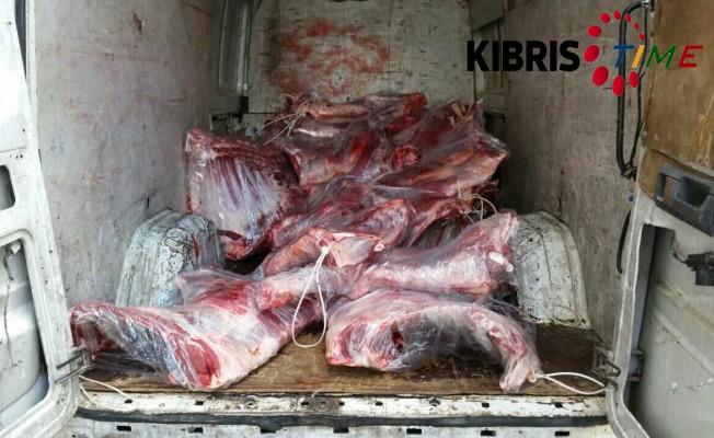 2 ton kaçak et ele geçirildi...