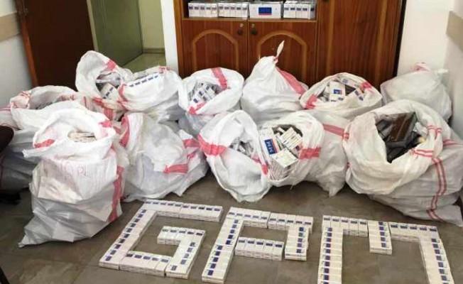 6 bin 555 paket gümrüksüz sigara bulundu
