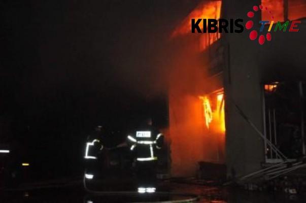 Hamitköy'de korkutan yangın...