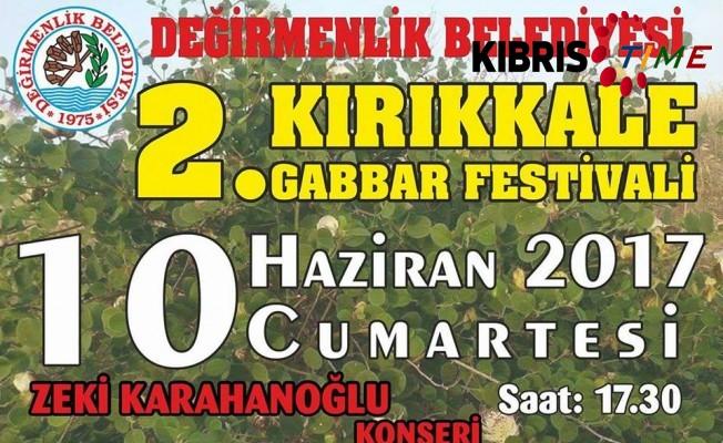 Kırıkkale Gabbar Festivali yarın
