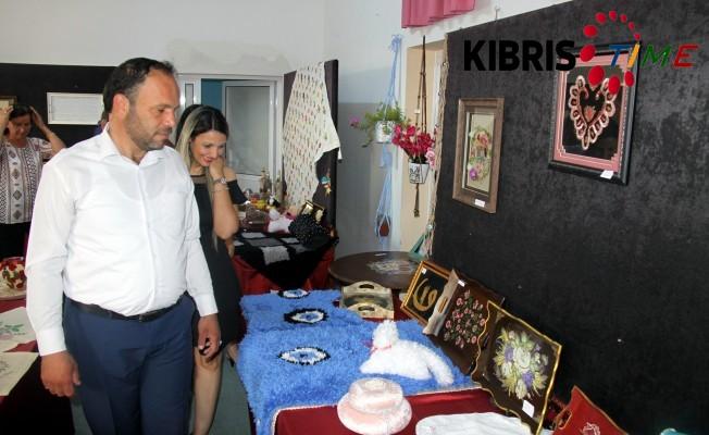 Ötükenli kadınların yıl sonu sergisi açıldı