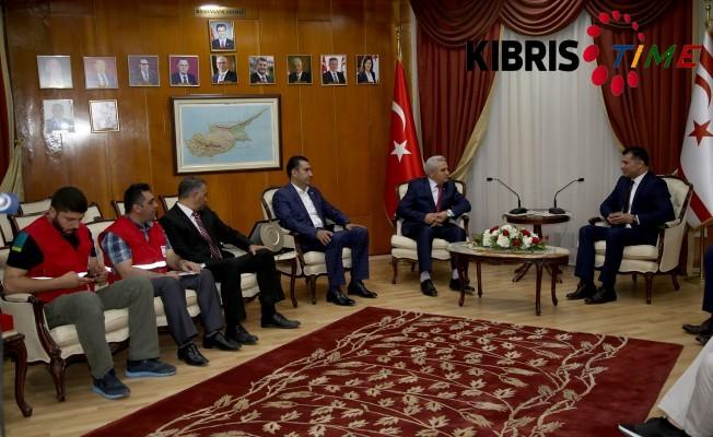Özgürgün, Türk Kızılayı yetkililerini kabul etti