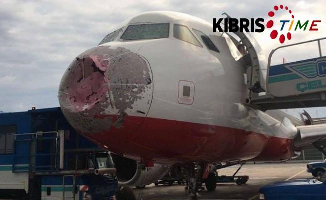 Ercan – İstanbul uçağı büyük tehlike atlattı