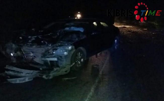 Girne Dağ yolunda kaza 1 ölü, 4 yaralı!