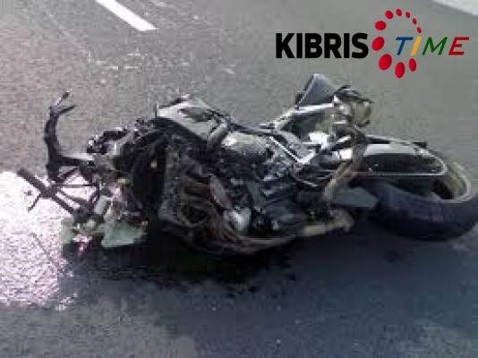 Girne'de meydana gelen motor kazasında bir kişi yaralandı