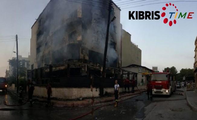 Gazimağusa'da korkutan yangın