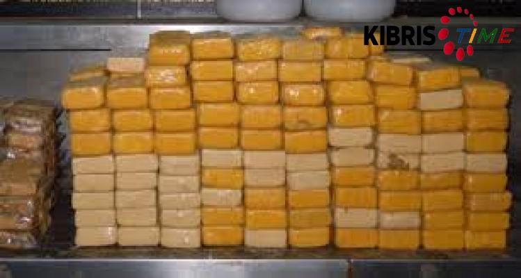Mersin'de 122 kilo kokain yaklandı