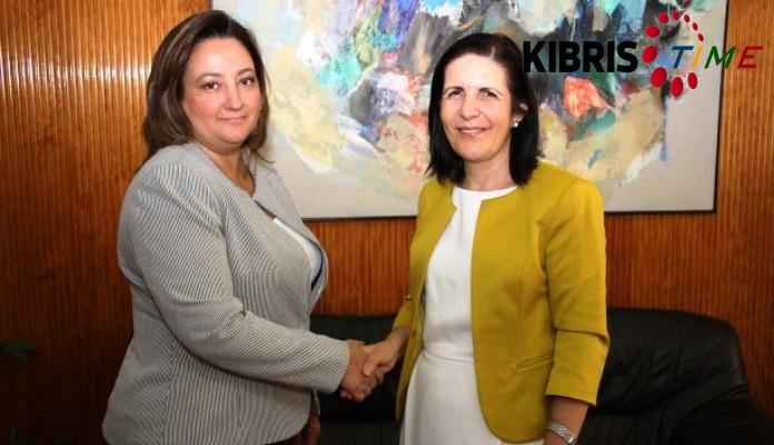 Siber, KKTC Brüksel Temsilcisi'ni kabul etti