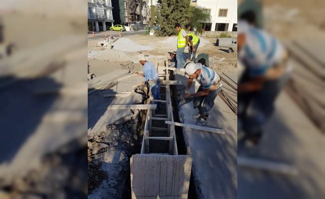 Girne'ye yağmur suyu drenaj hatları döşeniyor