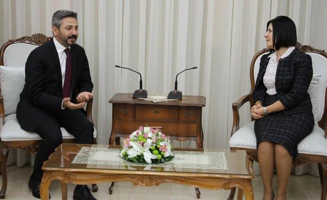 Siber, TBMM Başkanvekili Ahmet Aydın'ı kabul etti