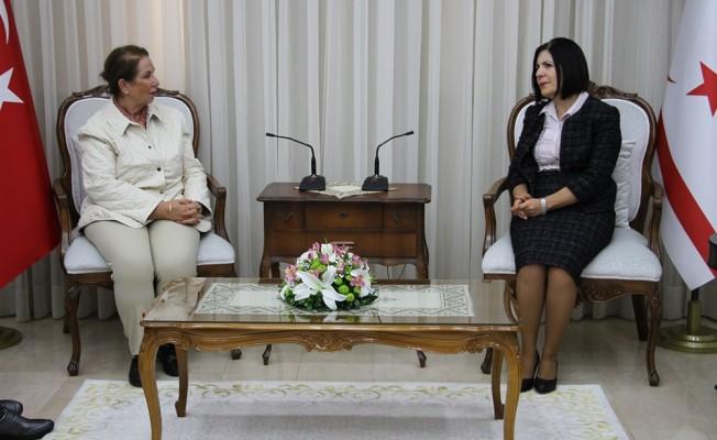 Siber, Türk Kadınlar Konseyi Başkanı'nı kabul etti