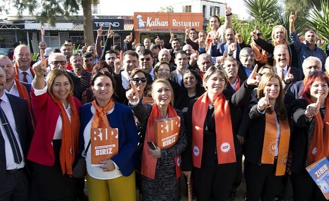 UBP Milletvekili Adayları Gazimağusa -Maraş'ı ziyaret etti.