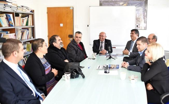 TDP adayları KTÖS ve KTOEÖS'ü ziyaret etti