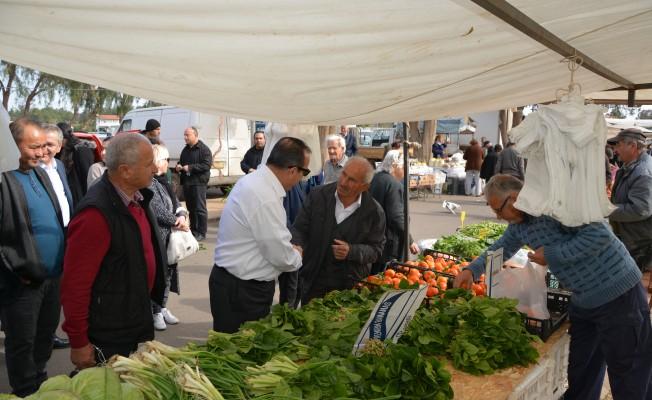 Ataoğlu, Güzelyurt Açık Pazarı'nı ziyaret etti