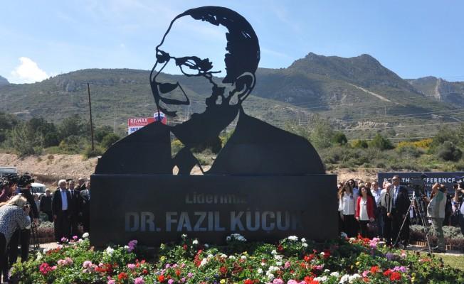 Dr. Fazıl Küçük anıtı törenle açıldı