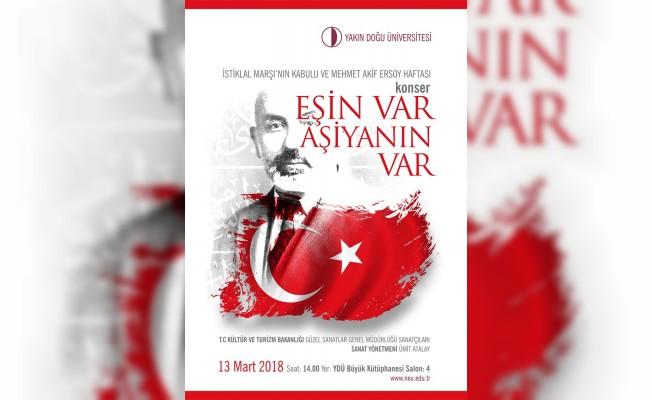 İstiklal Marşı'nın kabulü YDÜ'de kutlanacak