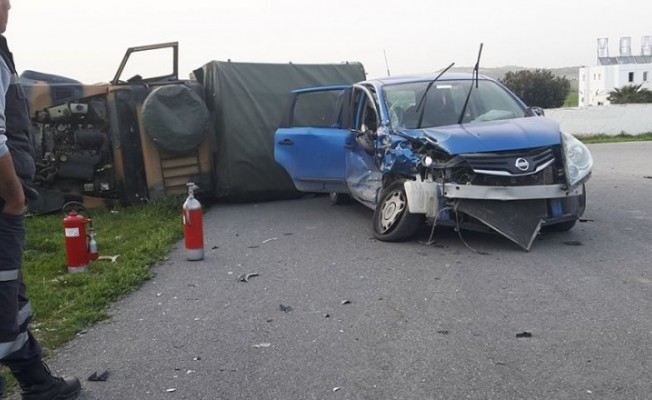 Lefkoşa-Güzelyurt yolunda feci kaza!