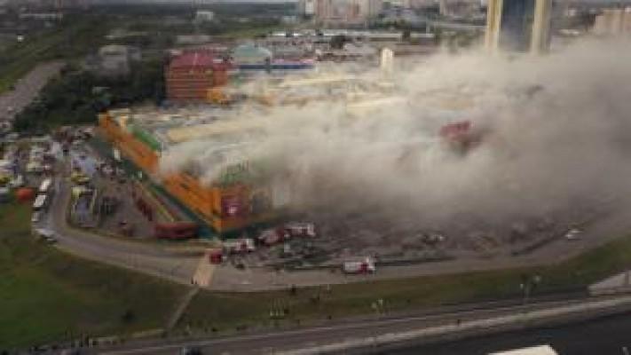 Rusya'da AVM yangını faciası