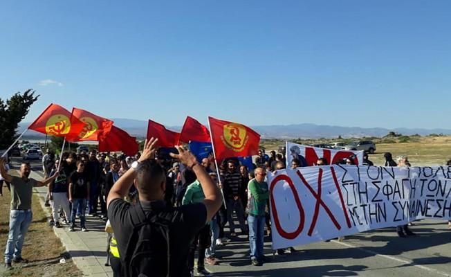 Ağrotur üssünde savaş karşıtı eylem