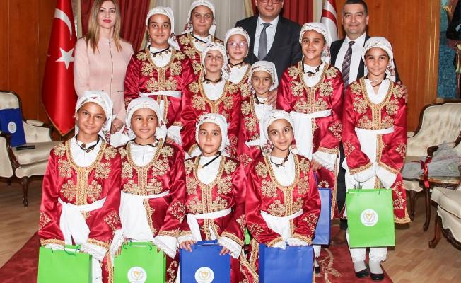 Erhürman, Hamitköy Dr.Fazıl Küçük İlkokulu ekibini kabul etti