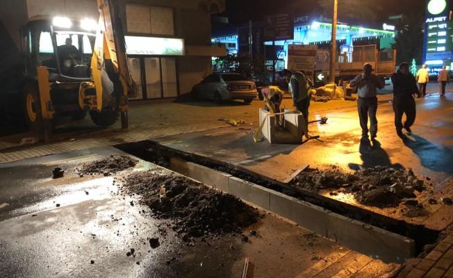 Girne'de yağmur suyu hattı yenilendi