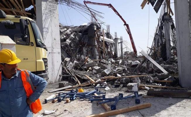 İskele'de 5 yıldızlı otel inşaatının karkası çöktü!