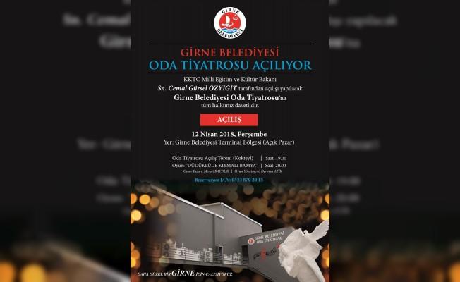 Oda Tiyatrosu 12 Nisan'da açılıyor
