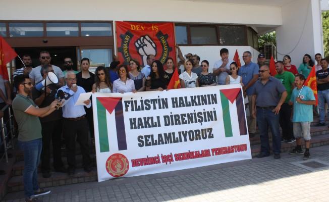 Dev-İş İsrail'i protesto etti