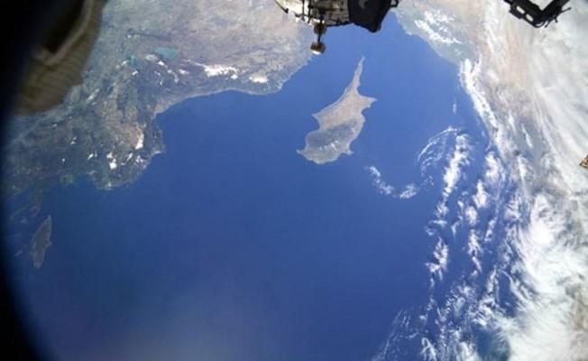 Uzaydan Kıbrıs'ı böyle görüntüledi