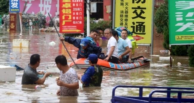 Çin'de sel felaketi....