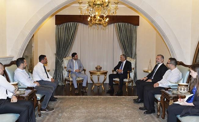 Cumhurbaşkanı Akıncı, EMO heyetiyle görüştü.