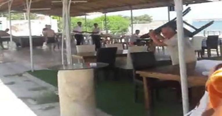 Mardinli Restaurant Plajı'nda kavga