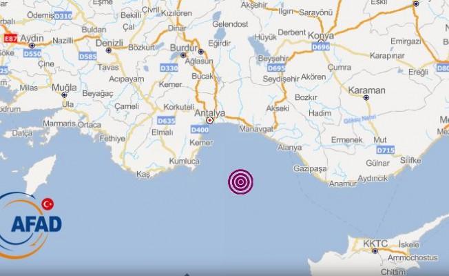 Akdeniz'deki deprem Kıbrıs'ta da hissedildi