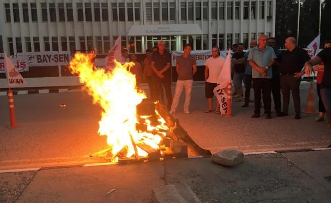 Başbakanlık önünde 'mutfak ateşi' yakıldı!