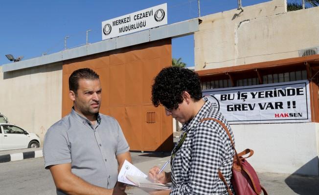 Cezaevi çalışanları uyarı grevi yaptı