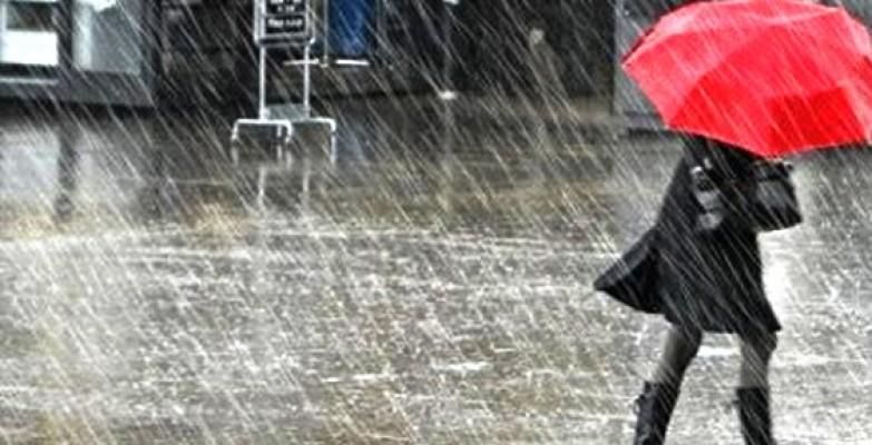 Hava yarın, perşembe ve cuma sağanak yağmurlu olacak
