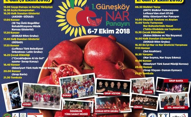I. Güneşköy Nar Panayırı, 6-7 Ekim'de...