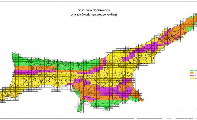 Kuraklık haritası açıklandı...