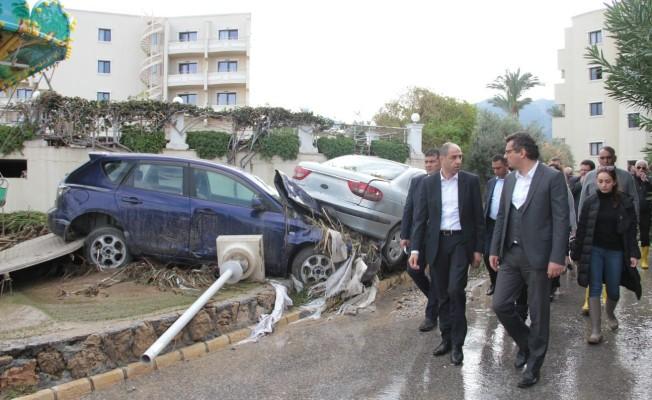 Başbakan Erhürman, afet bölgelerinde...