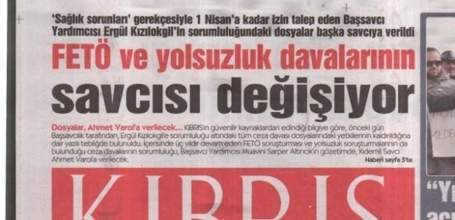 Kıbrıs Gazetesi'nden şok iddia!