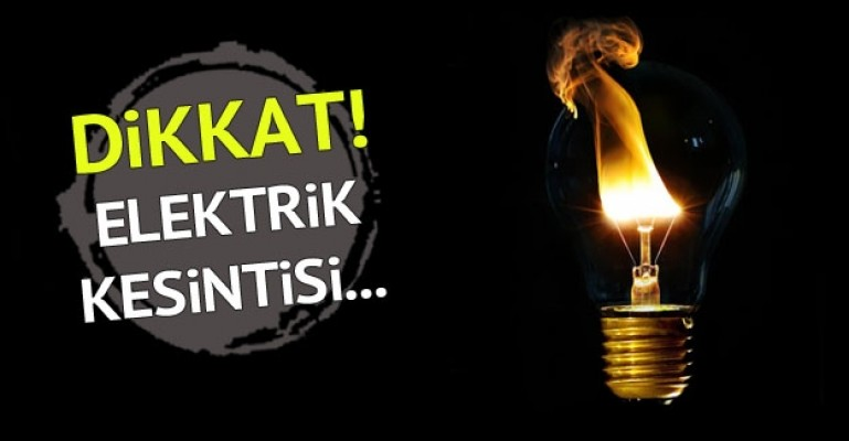 Lefke ve Güzelyurt'ta yarın elektrik kesintisi