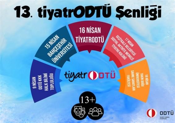 13. tiyatrODTÜ Şenliği 9 Nisan'da perde açacak