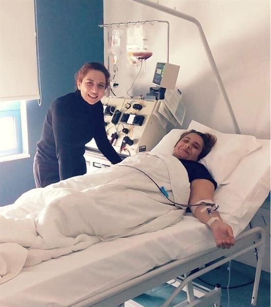 Macaristan'da tedavi gören hastaya umut oldu