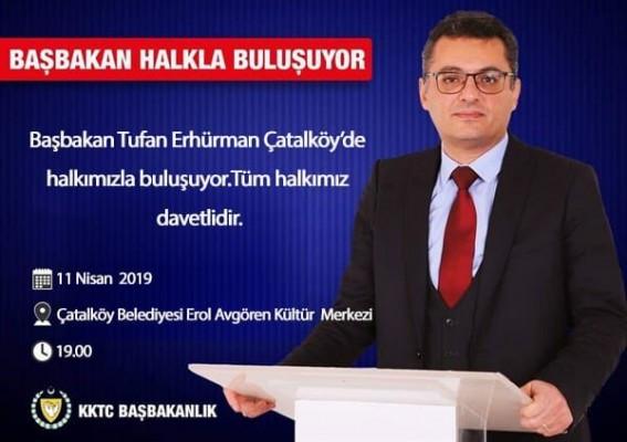 Erhürman Çatalköy'de halkla buluşacak