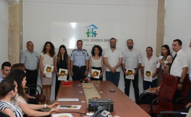 Çalışma Dairesi personeline sertifikaları verildi